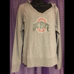 Tops - Ohio State gray long sleeve hoodie